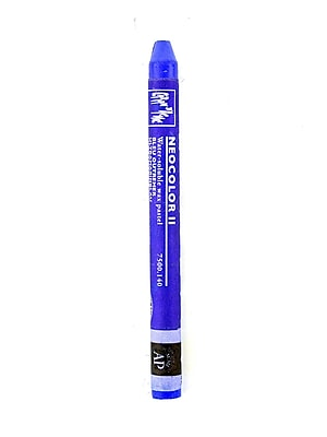 Caran D'Ache Neocolor Ii Aquarelle Water Soluble Wax Pastels Ultramarine Blue [Pack Of 10] (10PK-7500-140)