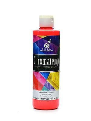Chroma Inc. Chromatemp Artists' Tempera Paint Fluorescent Red 8 Oz. [Pack Of 6] (6PK-2217)
