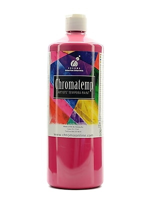 Chroma Inc. Chromatemp Artists' Tempera Paint Magenta 32 Oz. (2604)