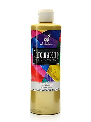 Chroma Inc. Chromatemp Artists' Tempera Paint Metallic Gold 16.9 Oz. [Pack Of 3] (3PK-2425)