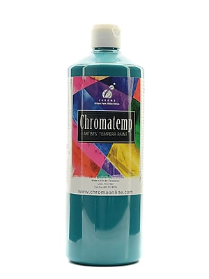 Chroma Inc. Chromatemp Artists' Tempera Paint Turquoise 32 Oz. (2608)