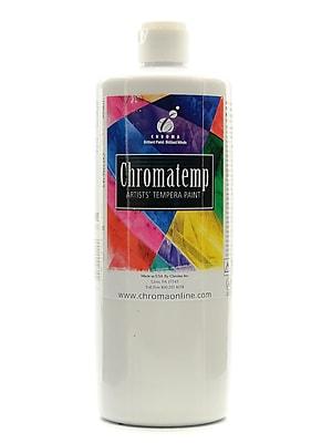 Chroma Inc. Chromatemp Artists' Tempera Paint White 32 Oz. (2610)
