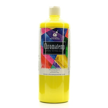 Chroma Inc. Chromatemp Artists' Tempera Paint Yellow 32 Oz. (2611)