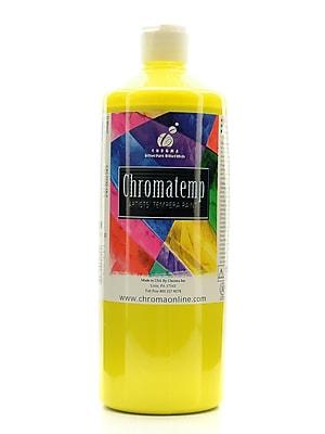 Chroma Inc. Chromatemp Artists' Tempera Paint Yellow 32 Oz. [Pack Of 2] (2PK-2611)
