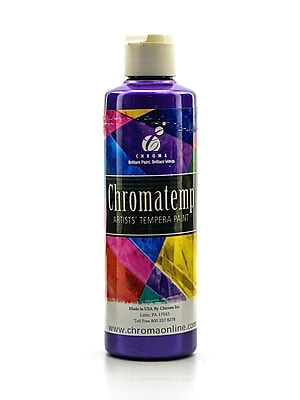 Chroma Inc. Chromatemp Pearlescent Tempera Paint Violet 250 Ml [Pack Of 4] (4PK-2233)