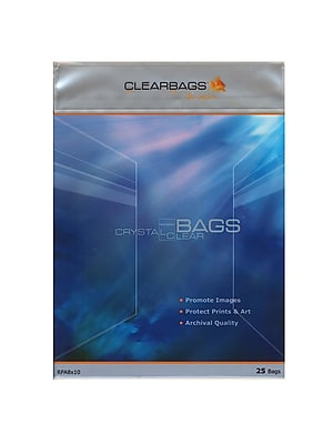 Clearbags Crystal Clear Photography And Art Bags 11 In. X 14 In. Pack Of 25 [Pack Of 2] (2PK-RPA11x14)