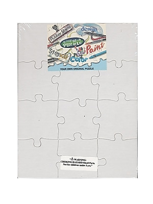 Compoz-A-Puzzle Blank Puzzles 8 1/2 In. X 11 In. 12 Pieces Each Pack Of 4 (96311)