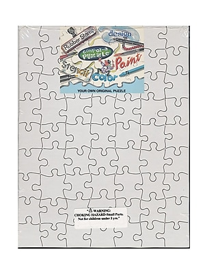 Compoz-A-Puzzle Blank Puzzles 8 1/2 In. X 11 In. 63 Pieces Each Pack Of 4 (96321)