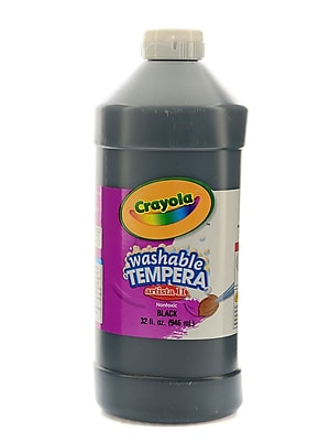 Crayola Artista Ii Liquid Tempera Paint Black 32 Oz. [Pack Of 3] (3PK-54-3132-051)