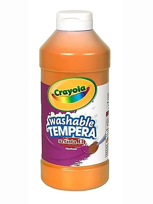 Crayola Artista Ii Liquid Tempera Paint Orange 16 Oz. [Pack Of 4] (4PK-54-3115-036)
