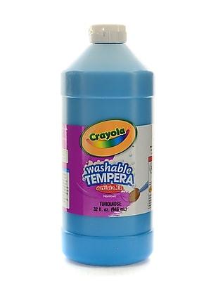 Crayola Artista Ii Liquid Tempera Paint Turquoise 32 Oz. [Pack Of 3] (3PK-54-3132-048)