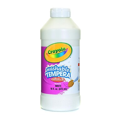 Crayola Artista Ii Liquid Tempera Paint White 16 Oz. [Pack Of 4] (4PK-54-3115-053)
