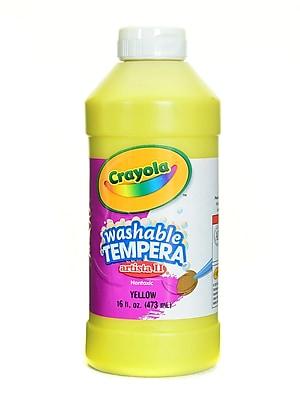Crayola Artista Ii Liquid Tempera Paint Yellow 16 Oz. [Pack Of 4] (4PK-54-3115-034)