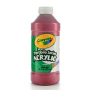 Crayola Portfolio Series Acrylic Paint Deep Red 16 Oz. [Pack Of 2] (2PK-20-4016-115)