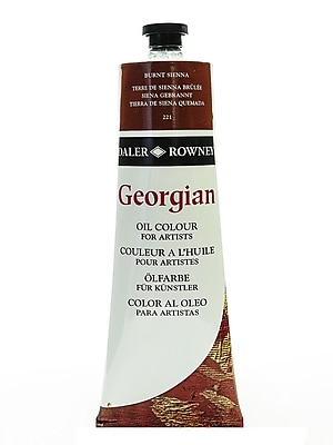 Daler-Rowney Georgian Oil Colours, Burnt Sienna, 225 Ml (111225221)