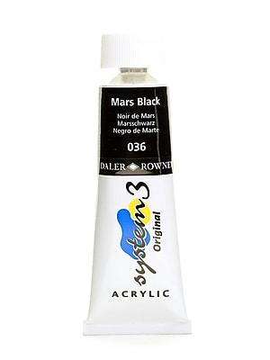 Daler-Rowney System 3 Acrylic Colour Mars Black 75 Ml [Pack Of 3] (3PK-121075036)