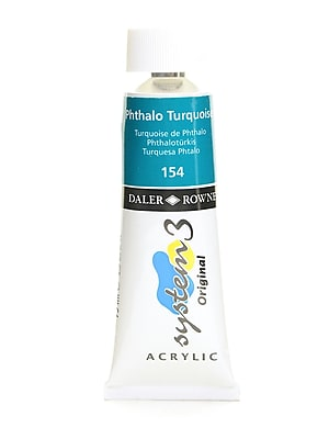 Daler-Rowney System 3 Acrylic Colour, Phthalo Turquoise, 75 Ml, Pack Of 3 (3PK-129075154)