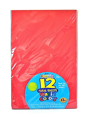 Darice Craft Foam 12 In. X 18 In. Pack Of 12 Assorted [Pack Of 2] (2PK-1022-57)
