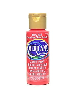 Decoart Americana Acrylic Paints Berry Red 2 Oz. [Pack Of 8] (8PK-DA19-3)