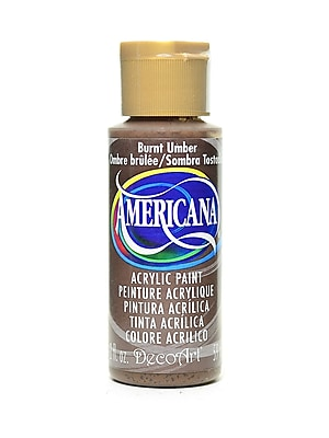 Decoart Americana Acrylic Paints Burnt Umber 2 Oz. [Pack Of 8] (8PK-DA64-3)