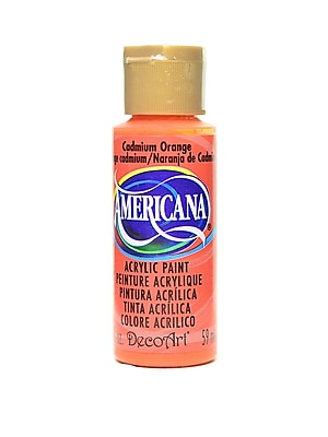 Decoart Americana Acrylic Paints Cadmium Orange 2 Oz. [Pack Of 8] (8PK-DA14-3)
