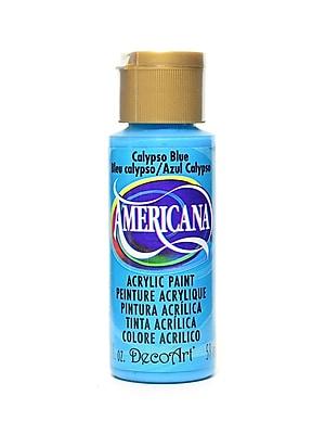 Decoart Americana Acrylic Paints Calypso Blue 2 Oz. [Pack Of 8] (8PK-DA234-3)