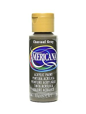 Decoart Americana Acrylic Paints Charcoal Gray 2 Oz. [Pack Of 8] (8PK-DA088-3)