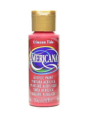 Decoart Americana Acrylic Paints Crimson Tide 2 Oz. [Pack Of 8] (8PK-DA021-3)