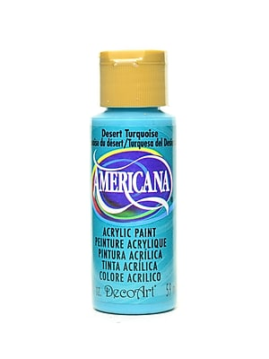 Decoart Americana Acrylic Paints Desert Turquoise 2 Oz. [Pack Of 8] (8PK-DA44-3)