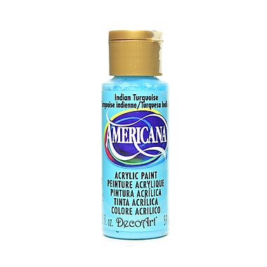 Decoart Americana Acrylic Paints Indian Turquoise 2 Oz. [Pack Of 8] (8PK-DA087-3)
