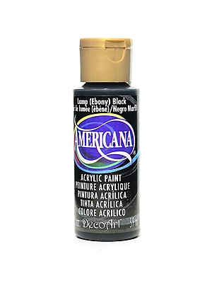 Decoart Americana Acrylic Paints Lamp Black 2 Oz. [Pack Of 8] (8PK-DA67-3)