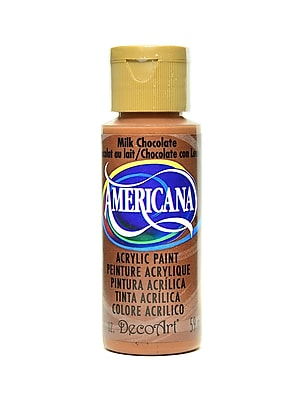 Decoart Americana Acrylic Paints Milk Chocolate 2 Oz. [Pack Of 8] (8PK-DA174-3)