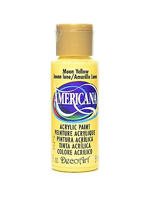Decoart Americana Acrylic Paints Moon Yellow 2 Oz. [Pack Of 8] (8PK-DA7-3)