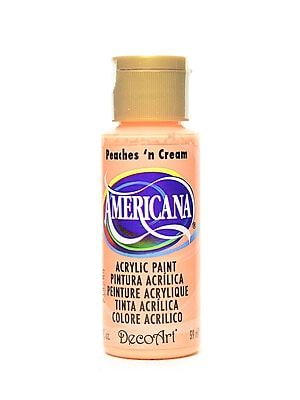 Decoart Americana Acrylic Paints Peaches And Cream 2 Oz. [Pack Of 8] (8PK-DA23-3)