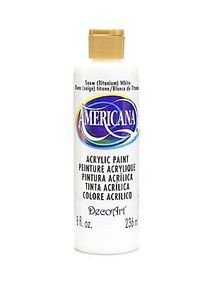 Decoart Americana Acrylic Paints Snow (Titanium) White 8 Oz. [Pack Of 3] (3PK-DA1-9)