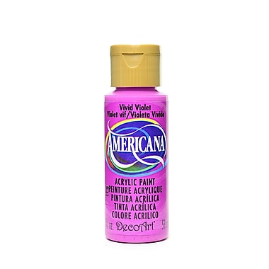 Decoart Americana Acrylic Paints Vivid Violet 2 Oz. [Pack Of 8] (8PK-DA232-3)