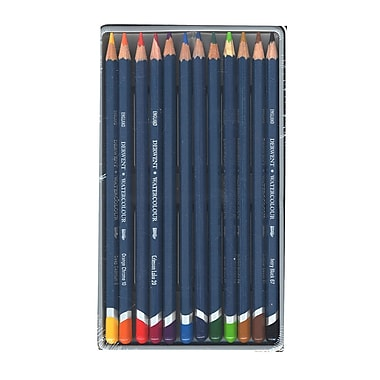 Derwent Watercolor Pencil Sets In Tins Set Of 12 (32881)