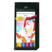 Faber-Castell Pitt Artist Brush Pen Sets Basic [Pack Of 2] (2PK-167103)
