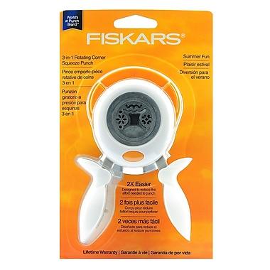 Fiskars 3-In-1 Corner Squeeze Punches Summer Fun (158490-1001)