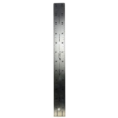 Gaebel Two-Sided Steel Rulers 12 In. 601 (601 12
