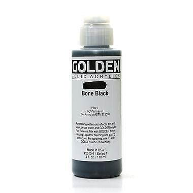 Golden Fluid Acrylics Bone Black 4 Oz. [Pack Of 2] (2PK-2010-4)