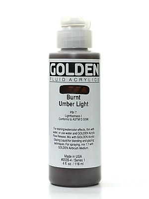Golden Fluid Acrylics Burnt Umber Light 4 Oz. [Pack Of 2] (2PK-2035-4)