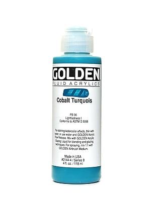Golden Fluid Acrylics Cobalt Turquoise 4 Oz. (2144-4)