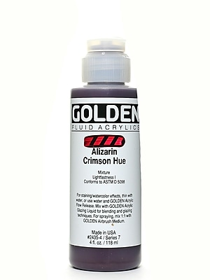 Golden Fluid Acrylics Historical Alizarin Crimson Hue 4 Oz. (2435-4)