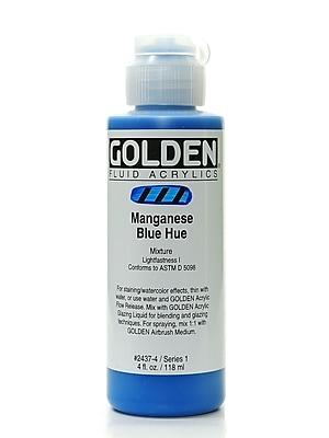 Golden Fluid Acrylics Historical Manganese Blue Hue 4 Oz. [Pack Of 2] (2PK-2437-4)