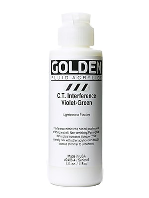 Golden Fluid Acrylics Interference Violet-Green (Ct) 4 Oz. (2486-4)