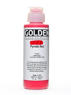 Golden Fluid Acrylics Pyrrole Red 4 Oz. (2277-4)