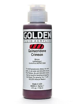 Golden Fluid Acrylics Quinacridone Crimson 4 Oz. (2290-4) 2245361