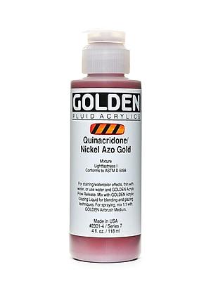 Golden Fluid Acrylics Quinacridone Nickel Azo Gold 4 Oz. (2301-4)