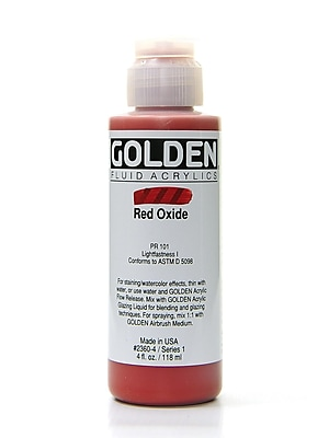 Golden Fluid Acrylics Red Oxide 4 Oz. [Pack Of 2] (2PK-2360-4)